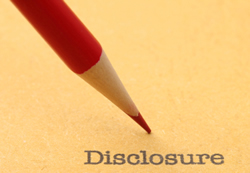 disclosure certification request